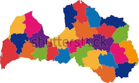 República El Salvador mapa cor traçar gráfico Foto stock © Volina