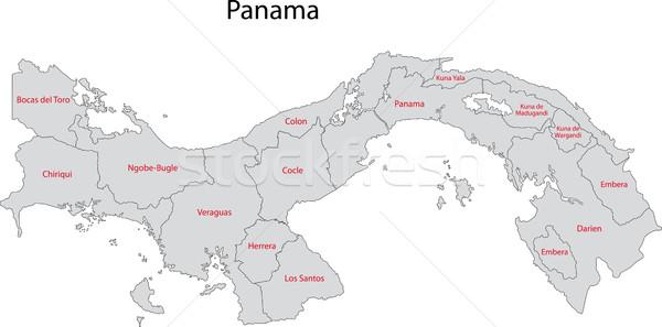 Szürke Panama térkép város terv diagram Stock fotó © Volina