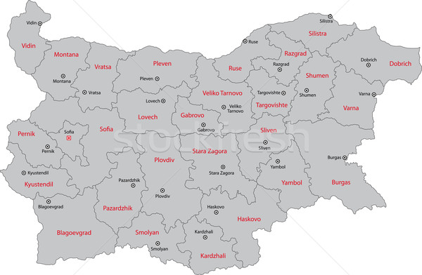 Gray Bulgaria map Stock photo © Volina