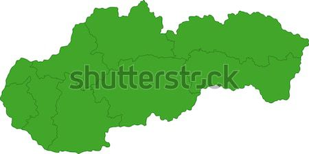 Green Slovakia map Stock photo © Volina