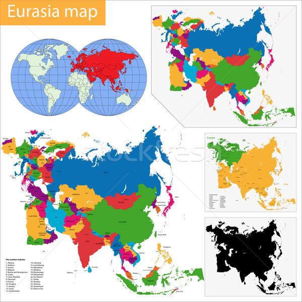 Eurasia Map Stock photo © Volina
