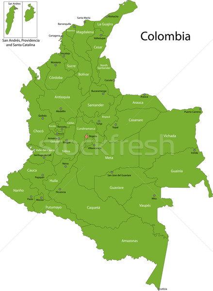 Green Colombia map Stock photo © Volina