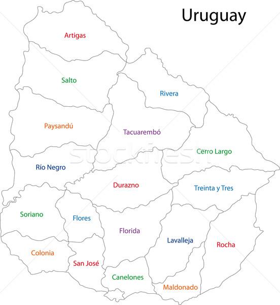 Contorno Uruguai mapa administrativo cidade projeto Foto stock © Volina