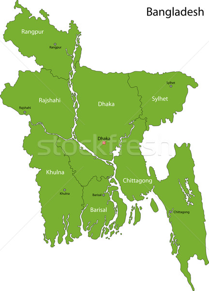 Green Bangladesh map vector illustration © Iryna Volina ...