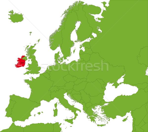 Ireland map Stock photo © Volina