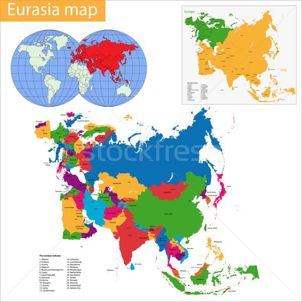 Harita vektör yüksek detay doğruluk Stok fotoğraf © Volina