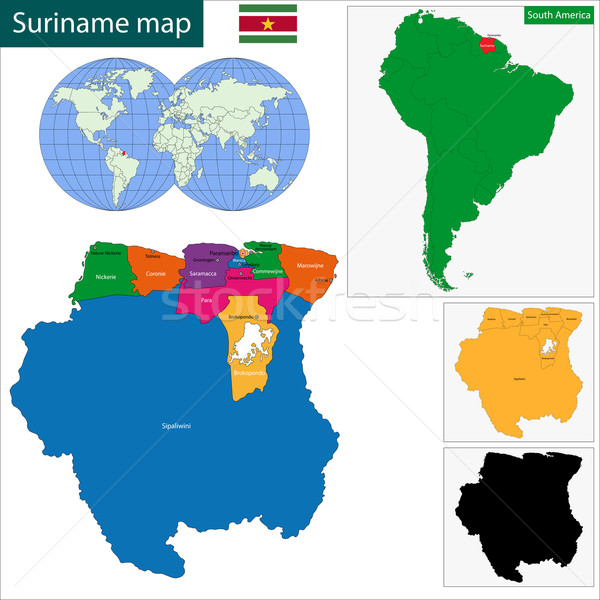 Republic of Suriname Stock photo © Volina