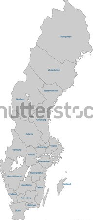 Grey Sweden map Stock photo © Volina