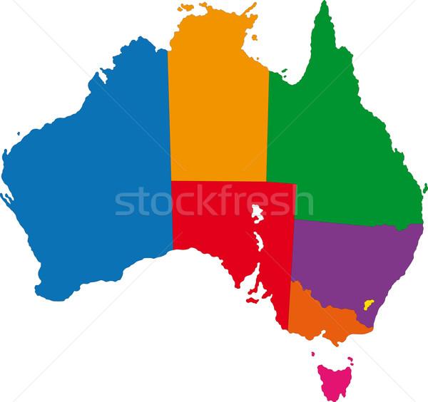 Австралия карта административный дизайна Мир острове Сток-фото © Volina