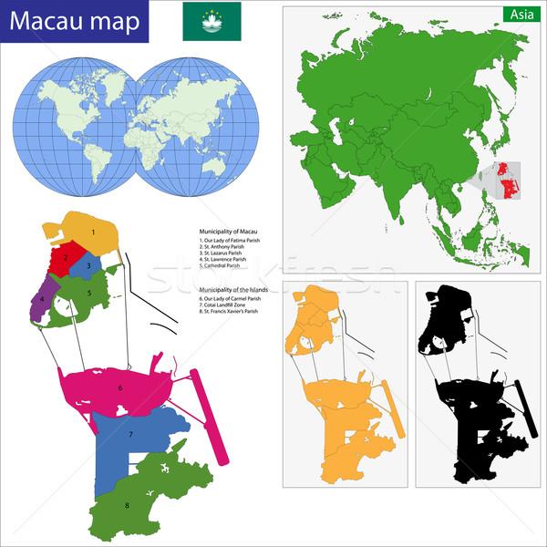 Karte Vektor besondere administrative Region Völker Stock foto © Volina