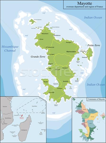 Mapa departamento região França Madagáscar pormenor Foto stock © Volina