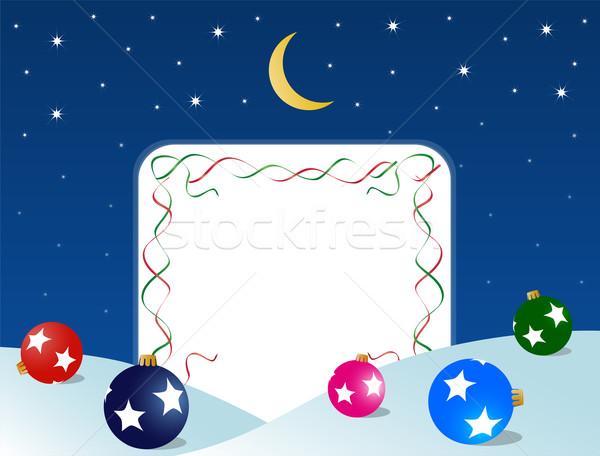 Рождества кадр Новый год луна бумаги Сток-фото © Volina