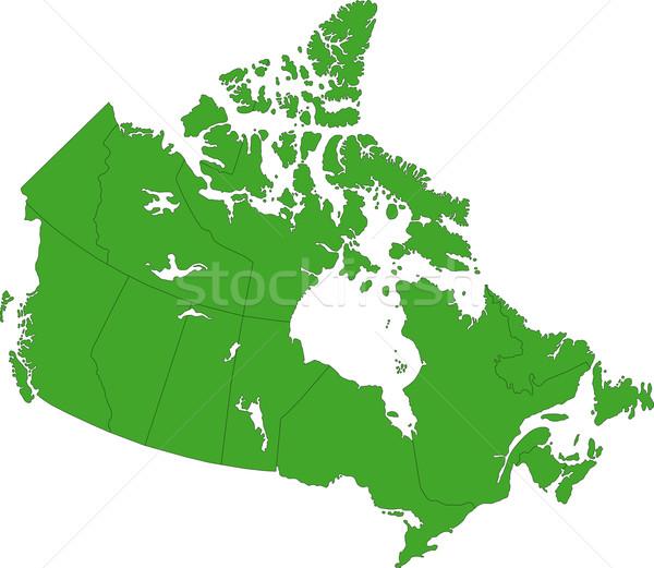 Green Canada map Stock photo © Volina