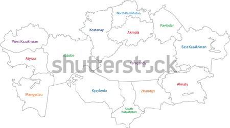 Stok fotoğraf: Gri · Nepal · harita · idari · şehir · Asya