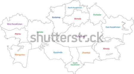 Gris Nepal mapa administrativo ciudad Asia Foto stock © Volina