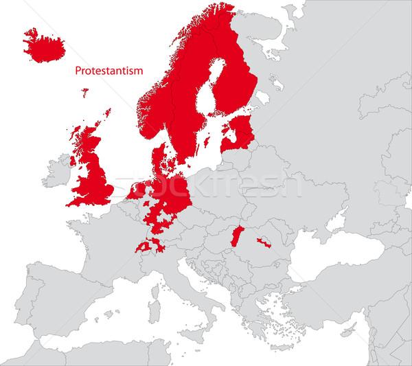 Protestantism in Europe Stock photo © Volina
