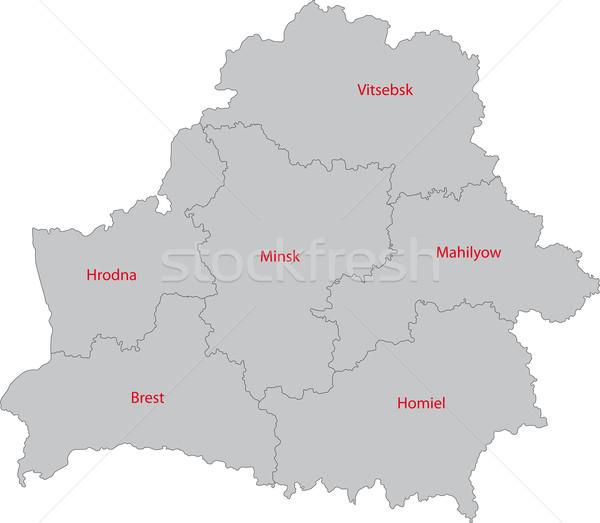 Grey Belarus map Stock photo © Volina