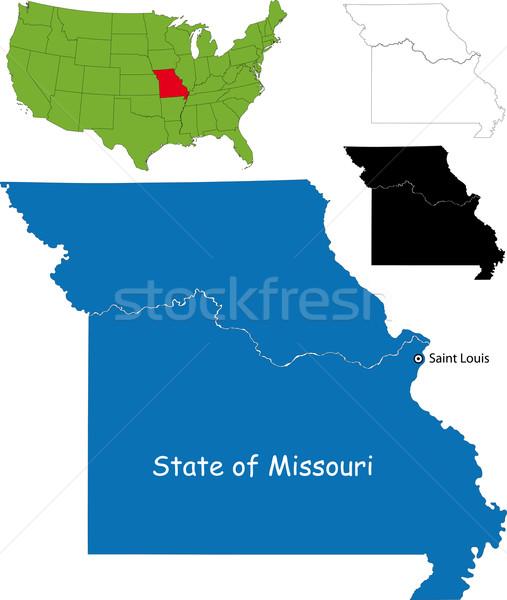 Missouri carte illustration USA fond Voyage Photo stock © Volina
