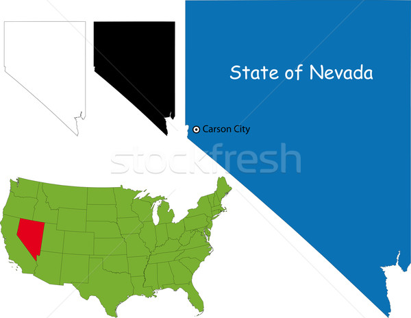 Nevada kaart illustratie USA kleur land Stockfoto © Volina
