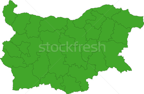 Green Bulgaria map Stock photo © Volina