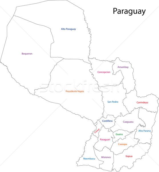 Contour Paraguay map Stock photo © Volina