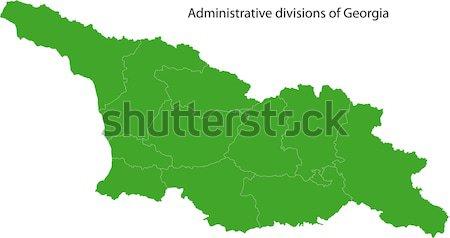ストックフォト: 緑 · ウズベキスタン · 地図 · 行政の · 市 · 国
