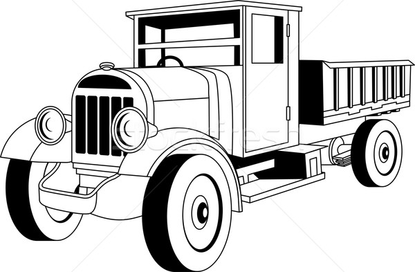 Vintage truck Stock photo © Volina