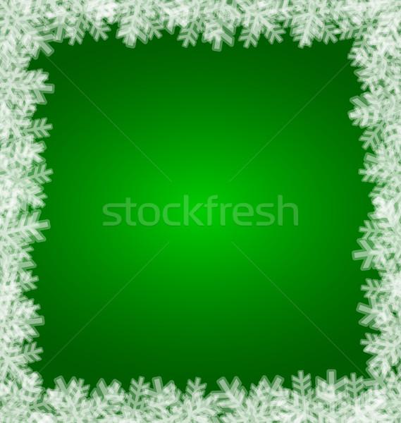 Noel kar tanesi yer metin gökyüzü kar Stok fotoğraf © Volina