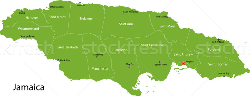 Jamaica map Stock photo © Volina