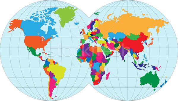 Mapa mapa do mundo mundo terra teia comunicação Foto stock © Volina