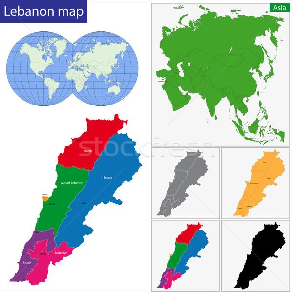 Ливан карта иллюстрация ярко Сток-фото © Volina