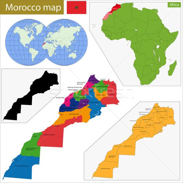 Morocco map Stock photo © Volina