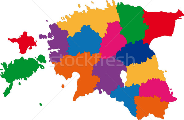 Colorful Estonia map Stock photo © Volina