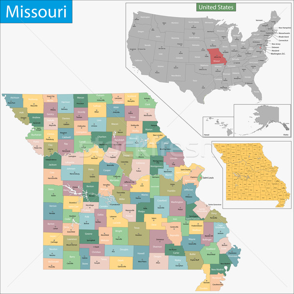 Missouri map Stock photo © Volina