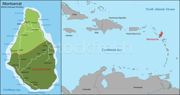 карта острове британский Карибы английский Сток-фото © Volina