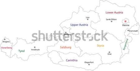 Contour Tajikistan map Stock photo © Volina