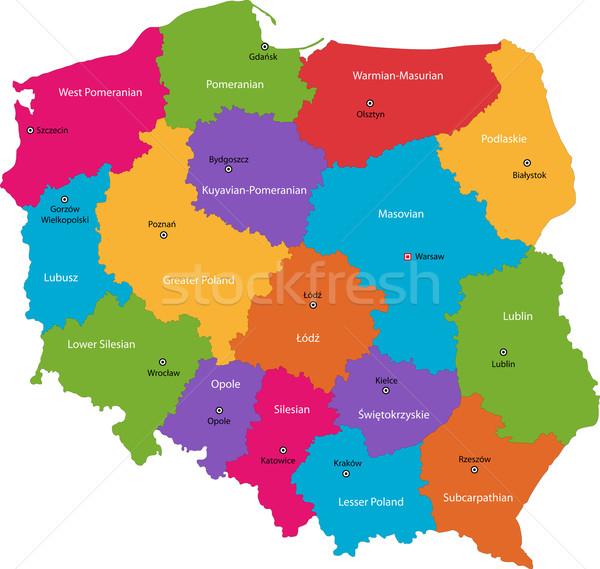 Poland map Stock photo © Volina
