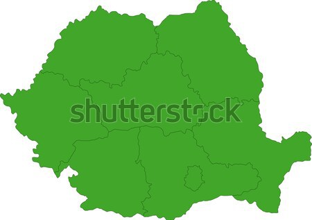 Green Romania map Stock photo © Volina