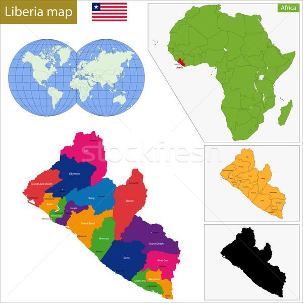 Liberia map Stock photo © Volina
