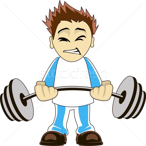 Cartoon bodybuilder Stock photo © Volina
