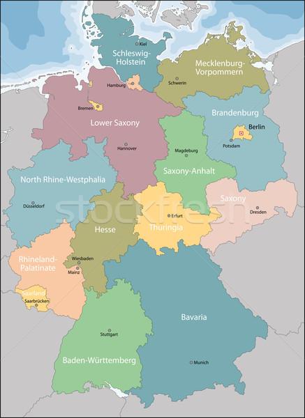 карта Германия основной фон Сток-фото © Volina
