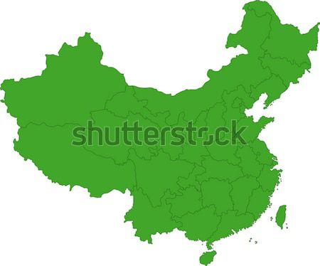 Green China map Stock photo © Volina
