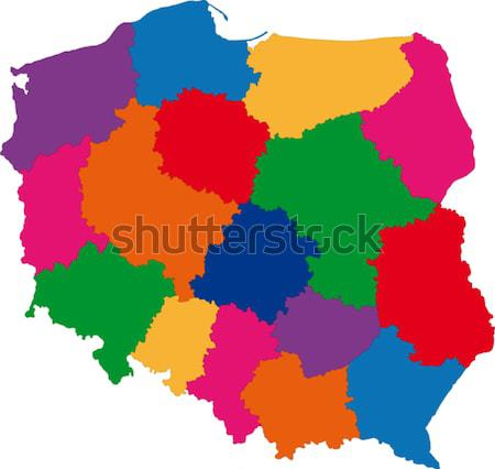 Kleurrijk Syrië kaart administratief asian land Stockfoto © Volina