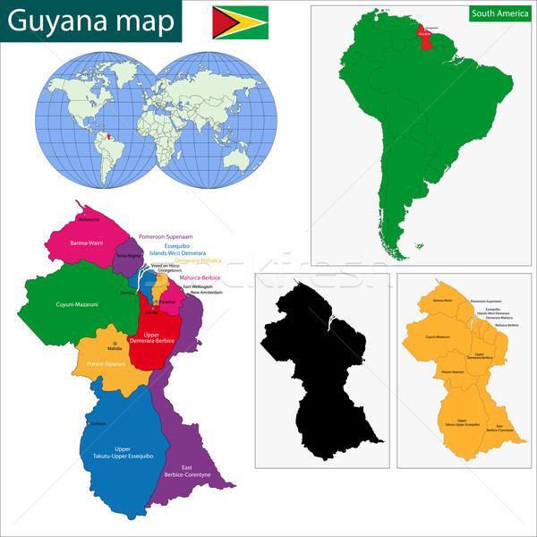 Гайана карта республика ярко Сток-фото © Volina