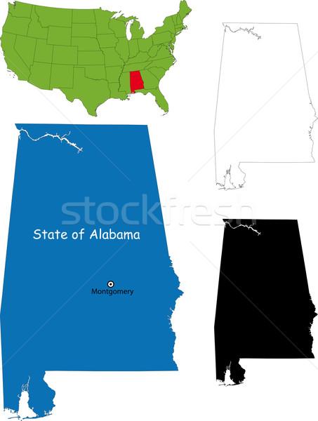 Alabama mapa ilustração EUA cor país Foto stock © Volina