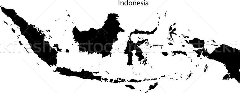 Siyah Endonezya harita şehir dizayn arka plan Stok fotoğraf © Volina