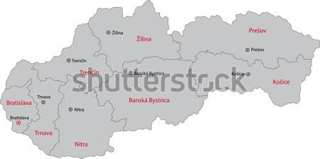 Grey Tajikistan map Stock photo © Volina
