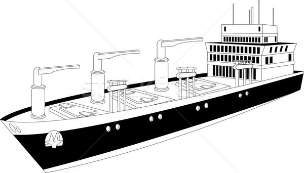 Cargueiro ilustração secar três viajar industrial Foto stock © Volina