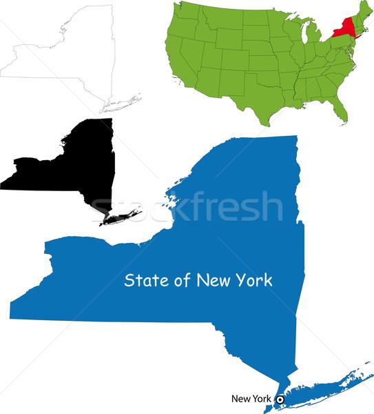 New york map Stock photo © Volina