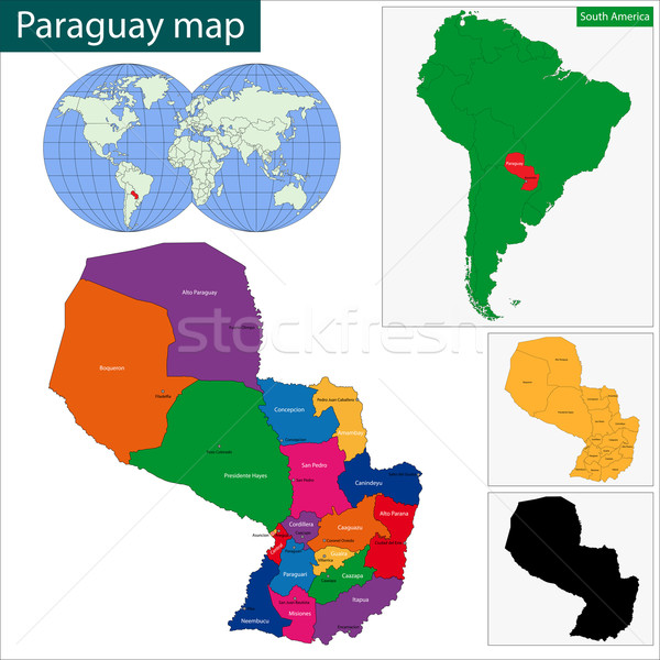 Paragwaj Pokaż republika kolorowy jasne kolory Zdjęcia stock © Volina